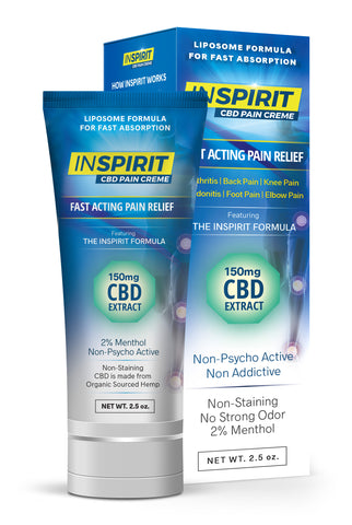 Buy 6 InSpirit CBD  Creme - Get 1 FREE TUBE! Save $55 and FREE Shipping