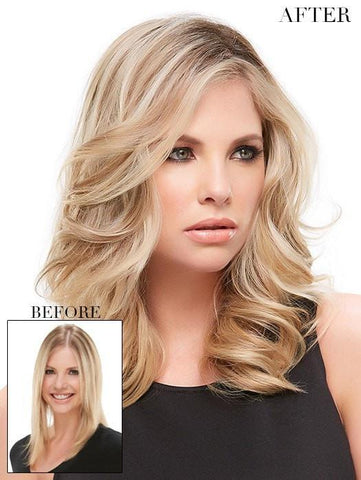 Short Blonde Hair Topper