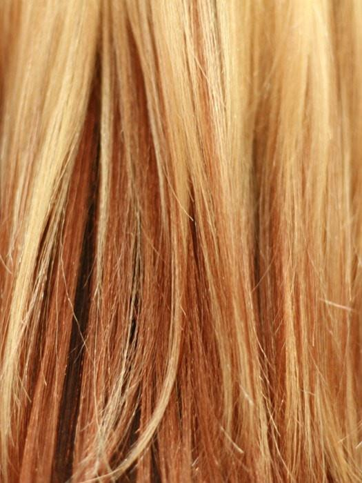 GM234 | Gradual Mix OMBRE Color. Golden Platinum Blonde Top, Golden Auburn Middle, Reddish brown Bottom
