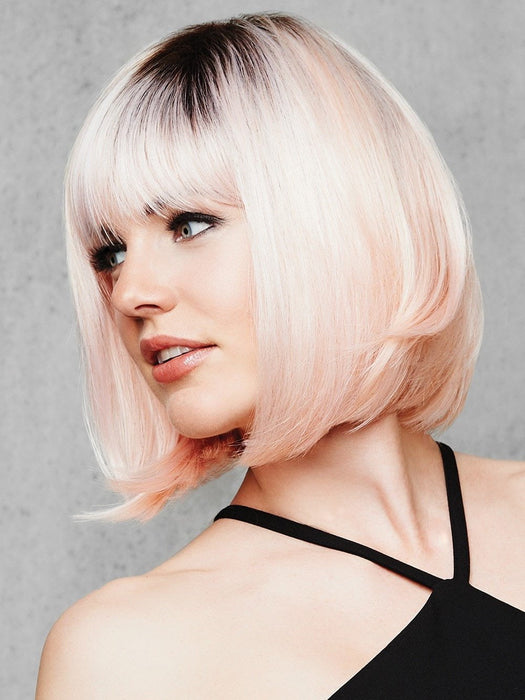 This pastel color trend is paired with a bob cut, making it classic yet edgy