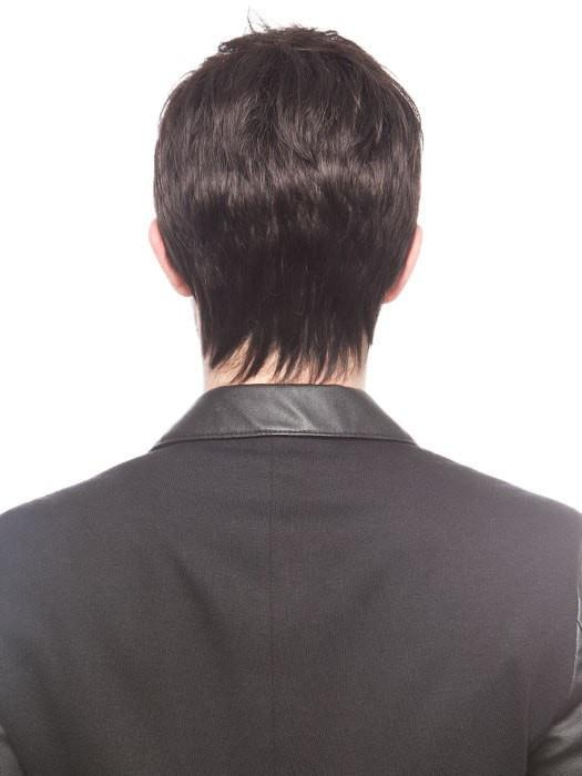 The sides and back are made with wefting to provide coverage and air circulation while wearing