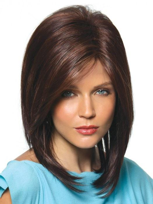JACKSON by Noriko in JAVA FROST | Dark Brown base with Gold Blonde and Light Auburn evenly highlighted