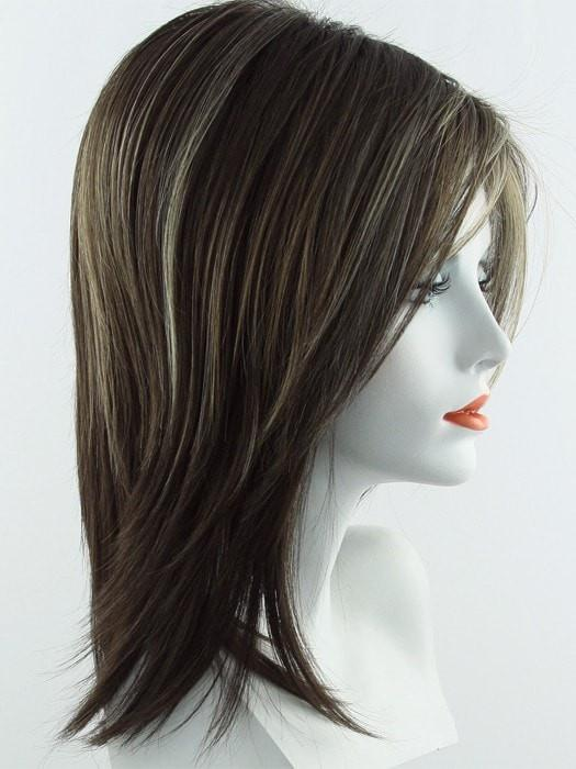 CHOCOLATE FROST R | Rooted Dark with a Dark Brown Base with Honey Blonde and Platinum highlights