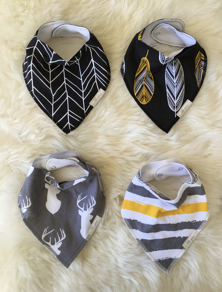 """Stags"" Baby Bibdana Four Set"