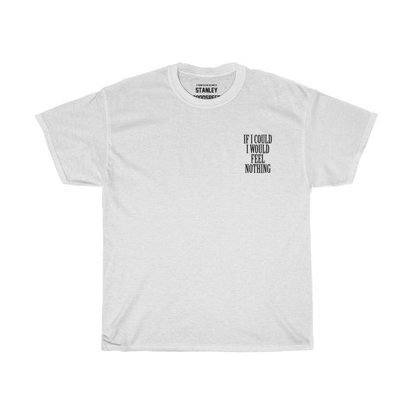 If I Could I Would Feel Nothing - T-Shirt - (White/Grey)
