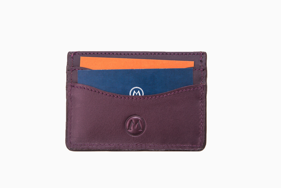Full Grain Leather Card Holder - Amaretto - Marquina Shoemaker