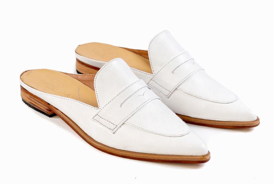 Posh Penny Loafer - Ivory White - Marquina Shoemaker
