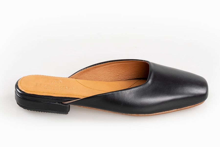 The Mod Flat - Black Noir - Marquina Shoemaker