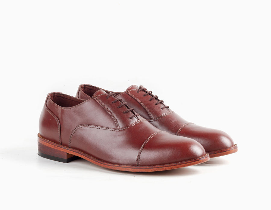 Garcia Captoe Oxford - Chestnut Brown - Marquina Shoemaker