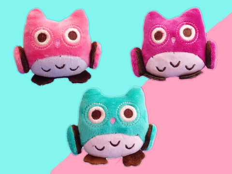 Cute pastel owl plush - all colors