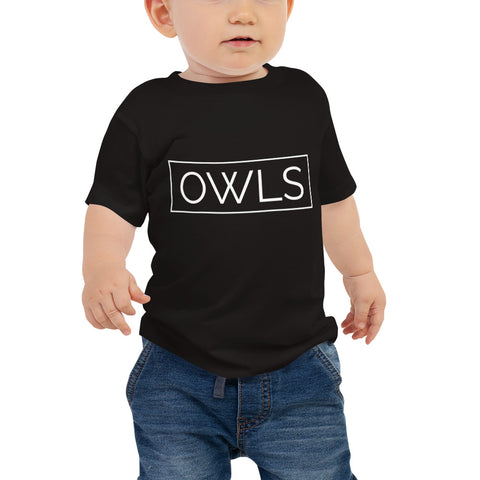 Your Theme: OWLS Stylish Fun Black & White Infant Baby Jersey Short Sleeve Tee