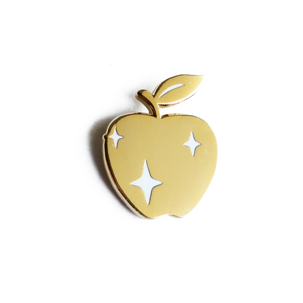 Golden Apple Enamel Pin