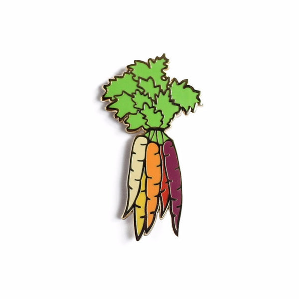 Rainbow Carrots Enamel Pin