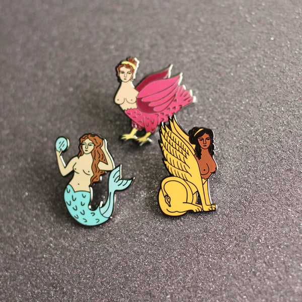Monster Maiden Enamel Pin Set