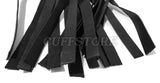 Black Leather 20 Tail Tassel Flogger Fetish Whip