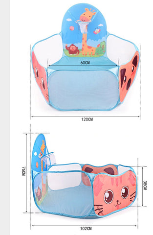 Boy's Castle Cubby Play Tent Toy Outdoor Folding Prince Portable