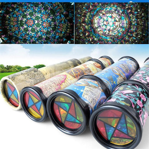 Kid's Rotating Kaleidoscope Toy Colorful Preschool Style at Random 21/31cm
