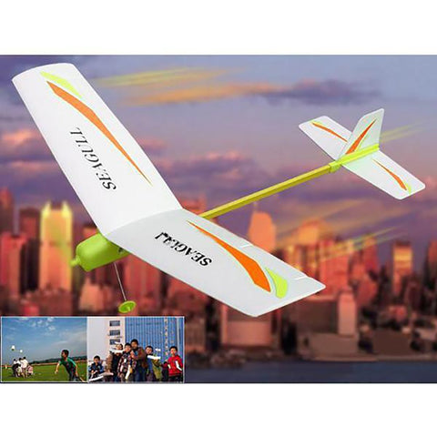 Children's Electronic Paper Airplaine Toy East Assembly Model Outdoor Sport Fun DIY
