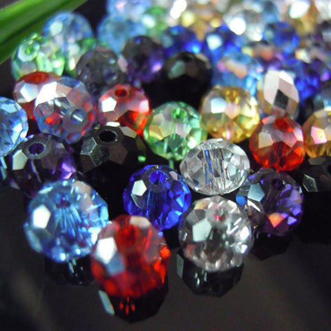 Crystal Glass Beads Rondelle Austria Faceted Loose Spacer Round for Jewerly Making 4*6mm 100pcs/lot