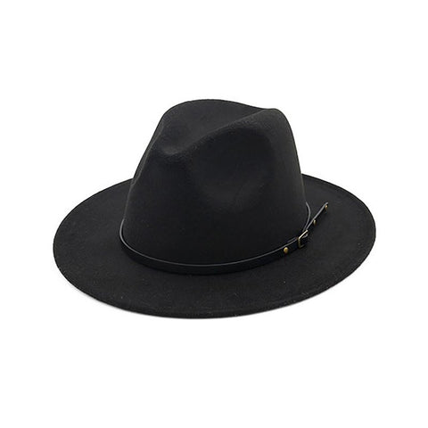 Unisex Adult's Vintage Hat Wide Brim Fedora Wool Jazz Winter