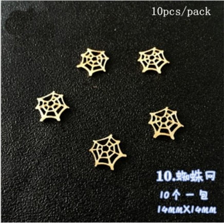 TJP Halloween Christmas Pumpkin Elk Castle Bat Snowflake Metal Material Epoxy Mold Makeing Jewelry Filling for DIY