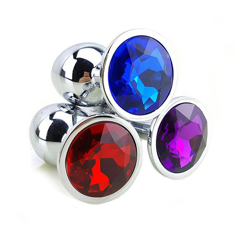 Unisex Metal Butt Plug Adult Body Jewelry Sex Toys