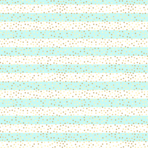 Aqua Stripes and Glitter Printed Craft Vinyl