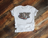 Joy Gingham Christmas Design - Pre-Cut Heat Transfer Decal