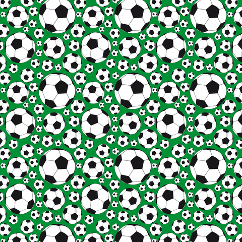 Soccer Balls on Green Printed Vinyl