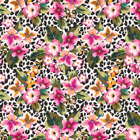 Tropical Cheetah Patterned Vinyl - Craft Vinyl
