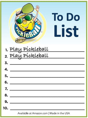 PickleBall To Do List NotePad