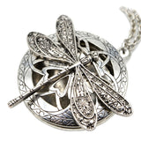 *Dragonfly Locket Diffuser Necklace