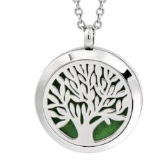 Stainless Tree Of Life Diffuser Necklace