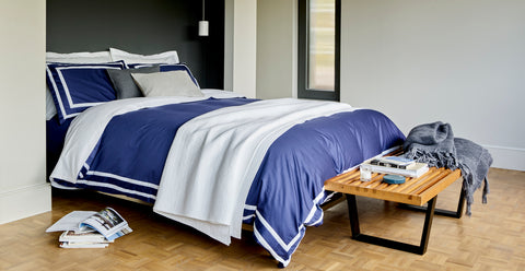 "Christy ""Stamford"" Bed Linen - Colour Navy"