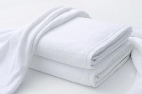 "Linen Obsession ""Spa Towel"" Collection in White"