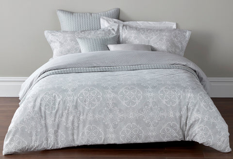 "Christy ""Sumatra"" Bed Linen - Colour Silver"