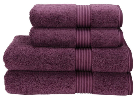 "Christy ""Supreme"" Towel and Bath Mat Collection in Plum"