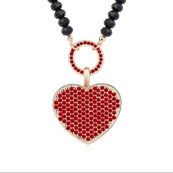SWAROVSKI HEART PENDANT NECKLACE RED