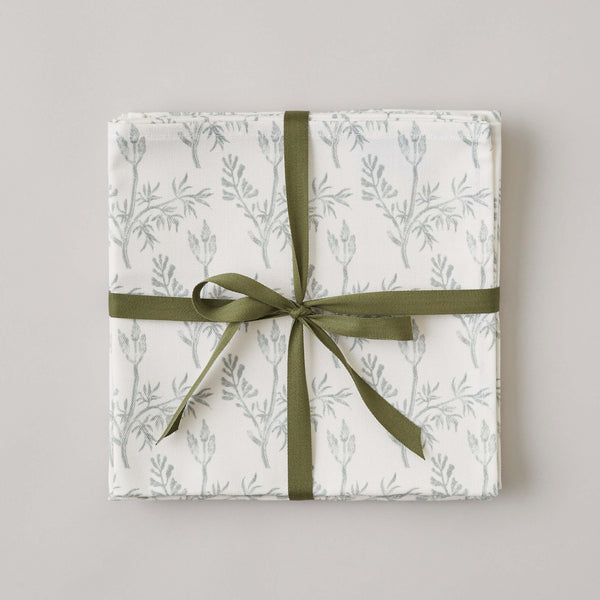 FOLKSGLOVE Fumitory Napkin - Set of Four with Ribbon