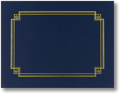 Linen Navy Certificate Cover  -  3 Count