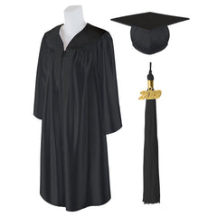 Adult Unisex Shiny Graduation Cap and Gown with Matching 2019 Tassel,  X-Large