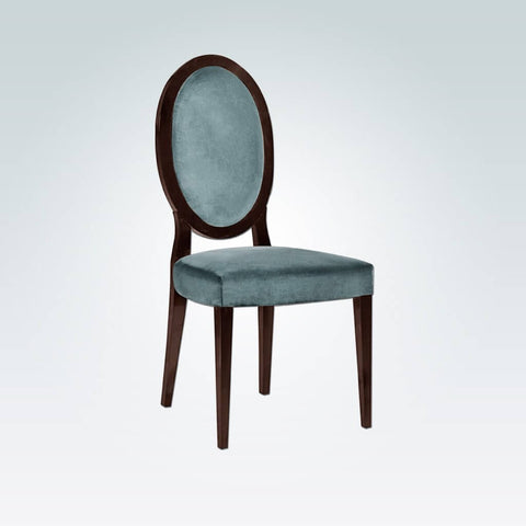 Blue Alanis Dining Chair with Oval Back 3038 RC1