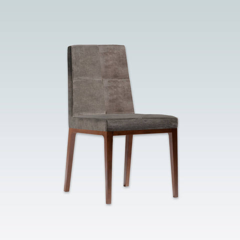 Arisa Brown Velvet Dining Chair with Show Wood Plinth and Legs SE01 RC2