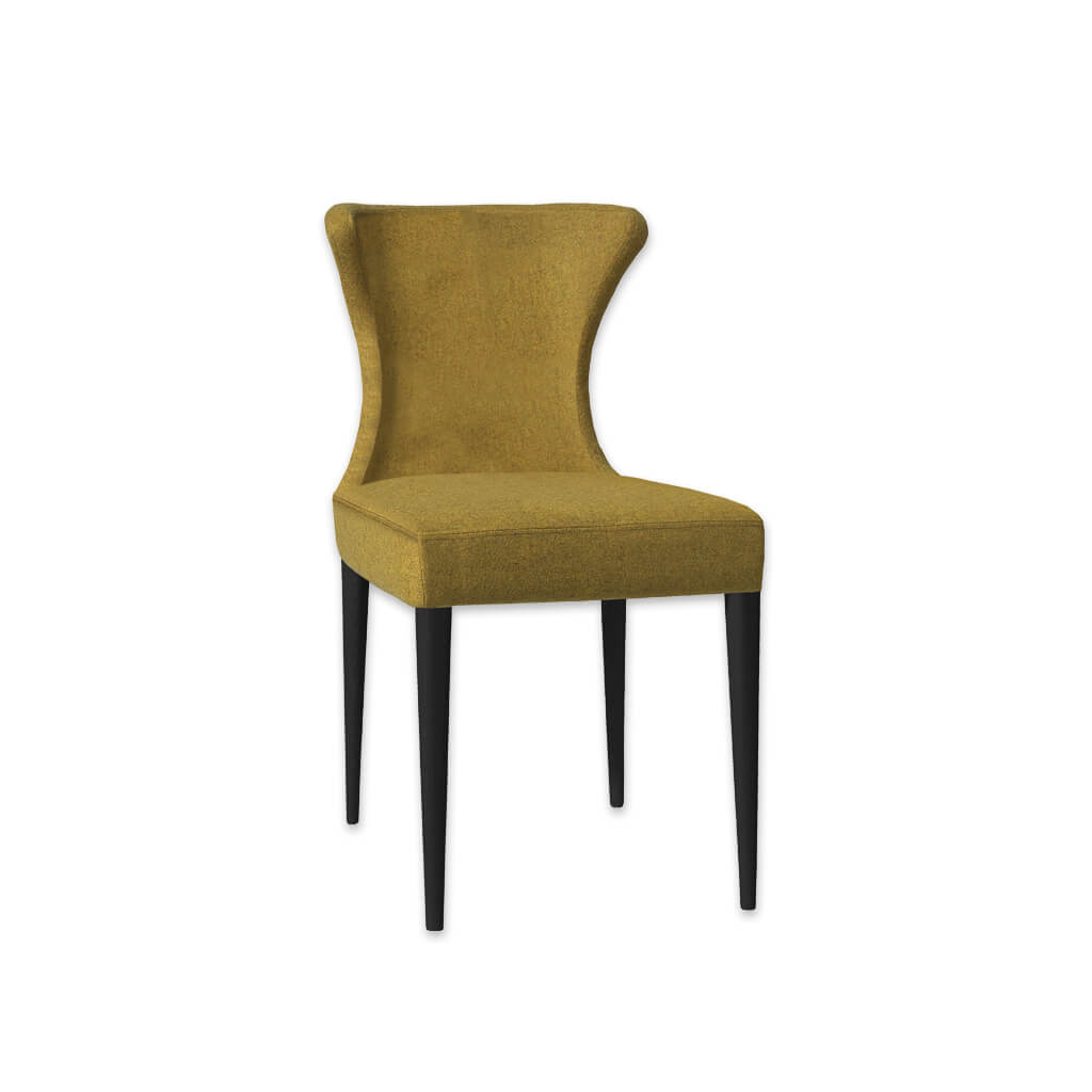 Iowa Fully Upholstered Mustard Fabric Dining Chair with Subtle Wing Back 3021 RC1 - Designers Image