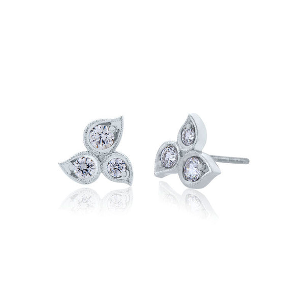 Forevermark Devotion Cut Diamond Triple Stud