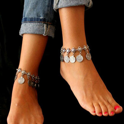 Vintage Coin Anklet-Body Jewelry-Moonlight Gypsy