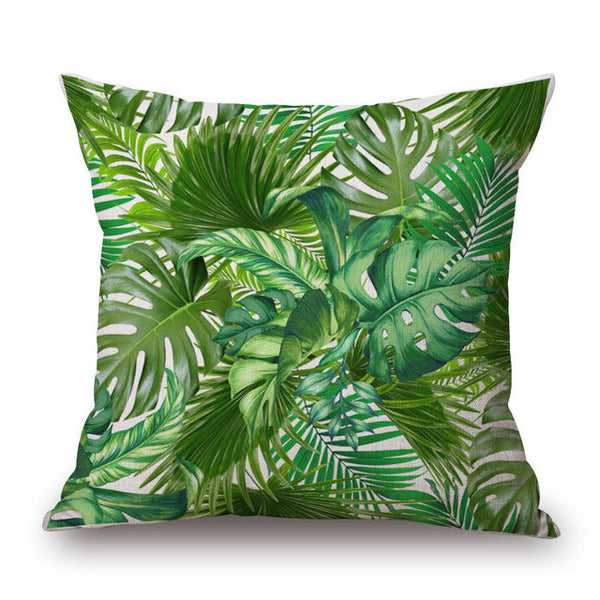 Hibiscus Print Pillow Cover-Home Decor-Moonlight Gypsy