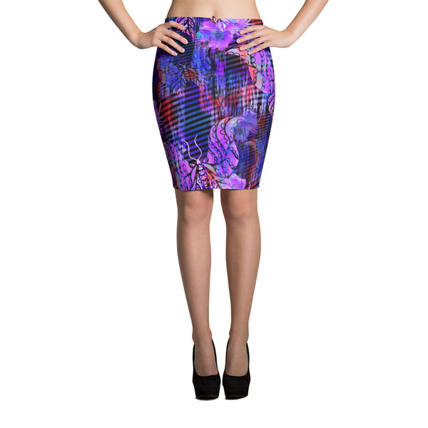 Indigo Beauty Pencil Skirt - ZBAZAAR