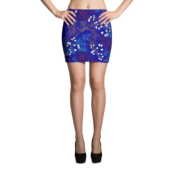 Blue Spring Mini Skirt - ZBAZAAR