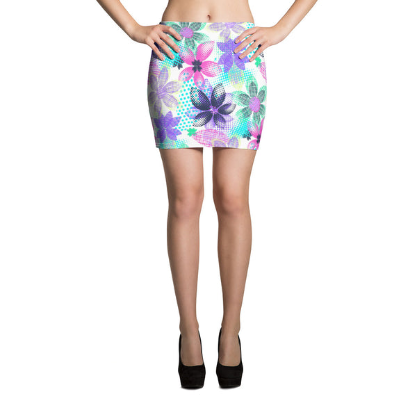 Dream Flowers Mini Skirt - ZBAZAAR